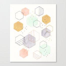Hexagon Scatter Canvas Print