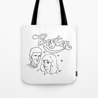 boston Tote Bags featuring Boston by elle stone