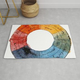 Goethe's Color Wheel (1809) Rug
