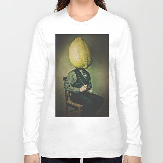 Lemonhead Photographer Portrait Long Sleeve T-shirt