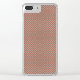 Slate Violet Gray SW9155 Tiny Uniform Polka Dot Pattern 1 on Cavern Clay SW 7701 Clear iPhone Case