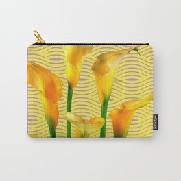 Lilac & Yellow  Calla Lilies Water Pattern Art Carry-All Pouch
