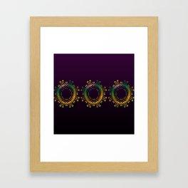 Fantasy Circle (Purple) Duvet Framed Art Print