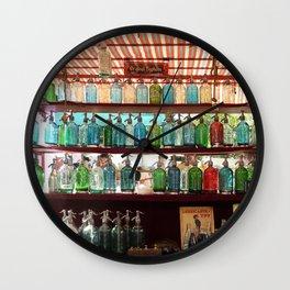 Antique Soda Bottles, San Telmo, Buenos Aires Wall Clock