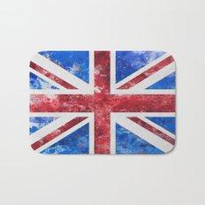 Union Jack Great Britain Flag Grunge Bath Mat