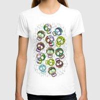 sugar skulls T-shirts featuring Sugar Skulls Pattern by BluedarkArt