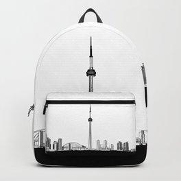 Toronto Skyline - Black Base Backpack