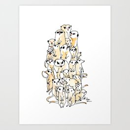 Wild Family Series - Meerkat Art Print