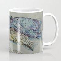 hippo Mugs featuring Hippo by SamKellyArt