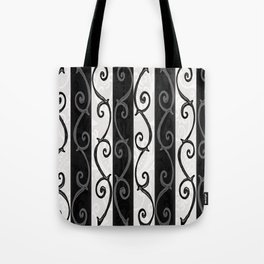 Burtonesque Stripes and Swirls.. Tote Bag