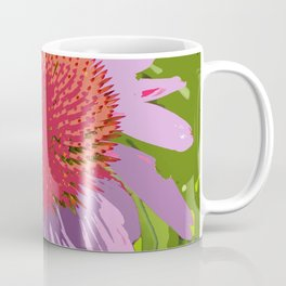 Echinacea in purple and orange, digitally modified Coffee Mug