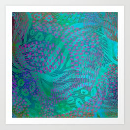 Tropical Abstract Art Print