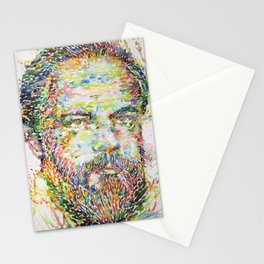 PHILIP K. DICK watercolor portrait.2 Stationery Cards