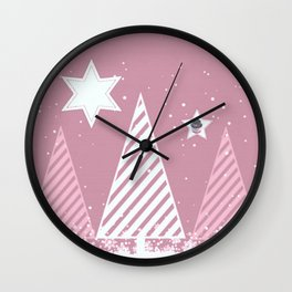 Stars forest Wall Clock