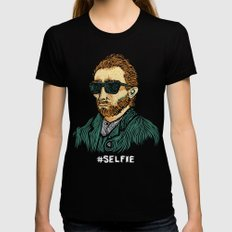 Van Gogh: Master of the #Selfie SMALL Black Womens Fitted Tee
