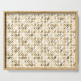 XOXO Love Me Gold Pattern 2 Serving Tray