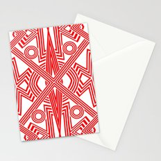 Red And White Stripes Stationery Cards