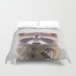 Raccoon - Colorful Duvet Cover