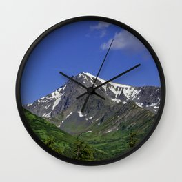 Scenic Seward Highway - Summer Wall Clock