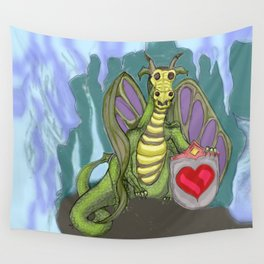 Lovelorn Dragon Wall Tapestry
