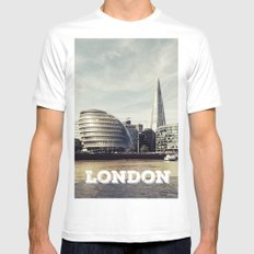 London city view MEDIUM White Mens Fitted Tee