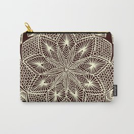 Maroon Mandala Carry-All Pouch