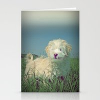 puppy Stationery Cards featuring PUPPY  by Monika Strigel