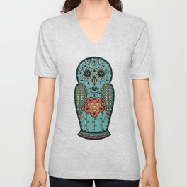 Owl matreshka Unisex V-Neck