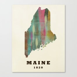 Maine state map modern Canvas Print