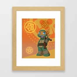 TMNT Chibi Mikey Framed Art Print