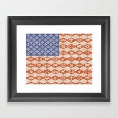 AMERICAN FLAG SOUTHWEST Framed Art Print