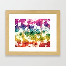 Multicolored Floral Swirls Decorative Design Framed Art Print