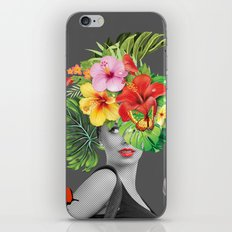 woman floral iPhone & iPod Skin