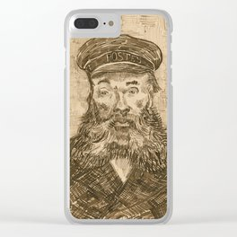 Portrait of the Postman Joseph Roulin by Van Gogh Clear iPhone Case