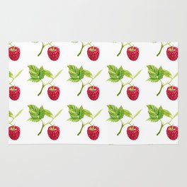 Raspberry, Fruit, Forest, Nature, Leaf, Berry, Sun, Summer, Happy Rug
