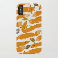 kitsune iPhone & iPod Cases featuring Kitsune by Mamoizelle
