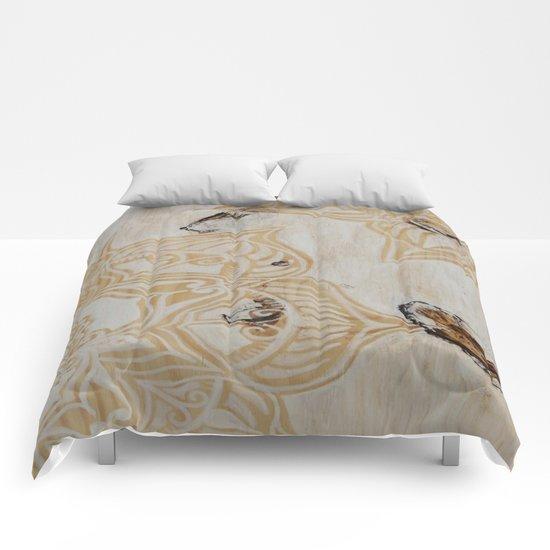 White Wash Mandala Comforters