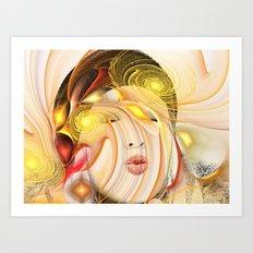 Colorful Woman 2 Art Print