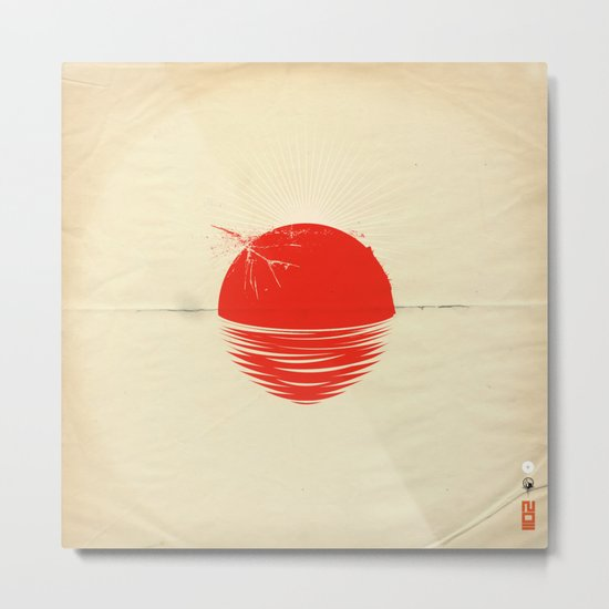 """Japan relief poster/all proceeds will go to """"Peace Winds"""" Metal Print"""