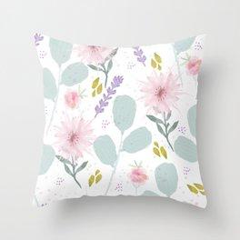 Martha's Garden Throw Pillow