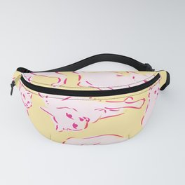 Cat Crazy yellow Fanny Pack