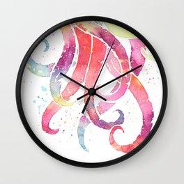 Tentacles - Watercolor Splatter Wall Clock