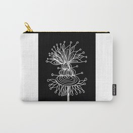 White Brum Flower Carry-All Pouch