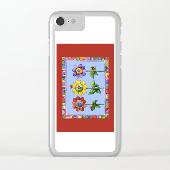 The Three Amigos with Border Clear iPhone Case