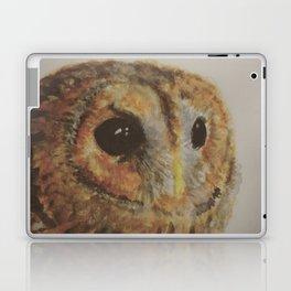 Watercolor Tawny Owl Painting Laptop & iPad Skin