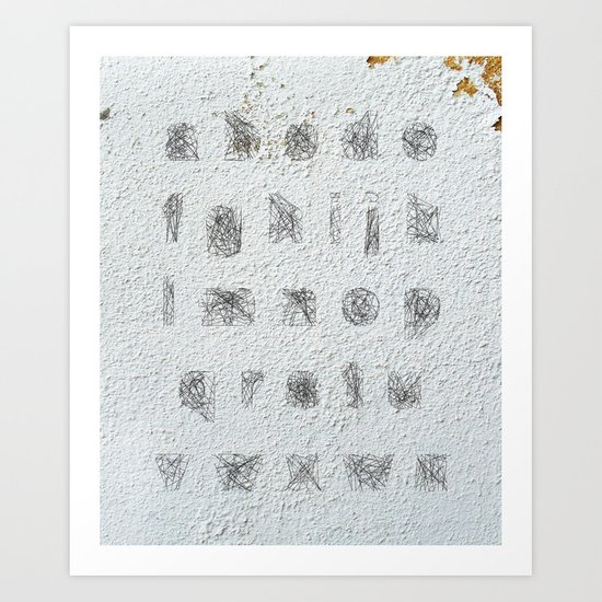 Spiderweb A to Z Font Art Print