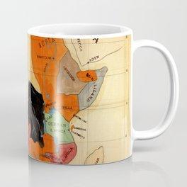 Map Of Africa 1908 Coffee Mug