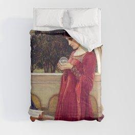 John William Waterhouse The Crystal Ball Comforters