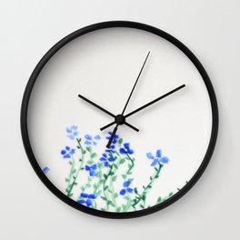 Ella's Forget-Me-Nots Wall Clock