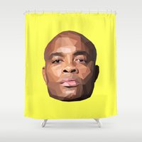 wes anderson Shower Curtains featuring Anderson Silva Vector by QUAPEX